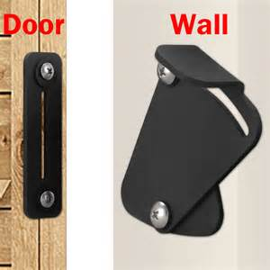 barn door locking hardware no joint 2m black powder coated sliding barn door hardware