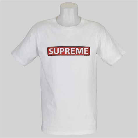 Premium Supreme White T Shirt 04 powell peralta supreme logo t shirt white at skate pharm