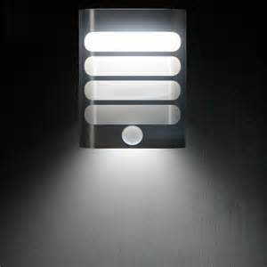 battery operated led wall night light sensor metal night