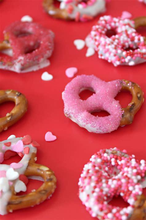 valentines day pretzels s day snack festive white chocolate covered