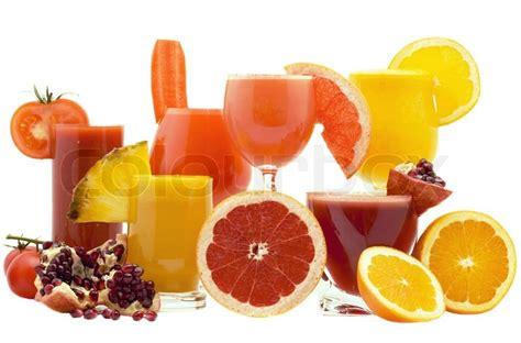background juice juice with fruits on a white background stock photo