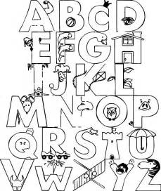 dibujos letras imprimir az dibujos colorear