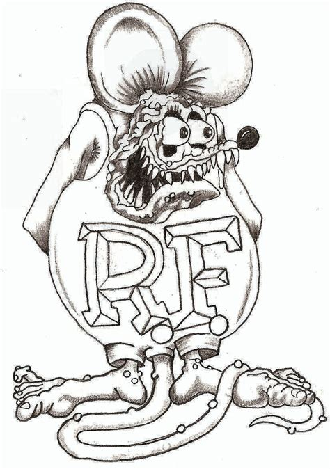 Rat Fink By Thelob On Deviantart Rat Rod Coloring In