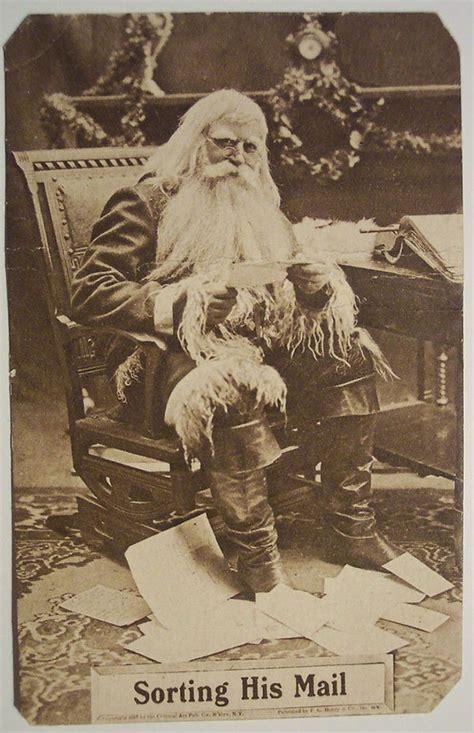 antique christmas santa postcards  vintage illustrations