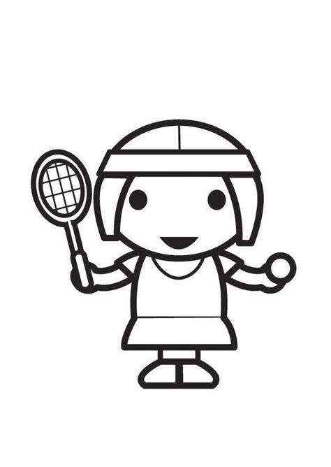 imagenes para colorear tenis disegno da colorare giocatore di tennis cat 26071
