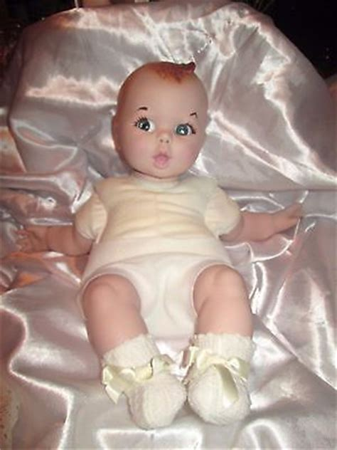 porcelain doll in christening gown vintage 1981 gerber bisque baby doll w christening gown