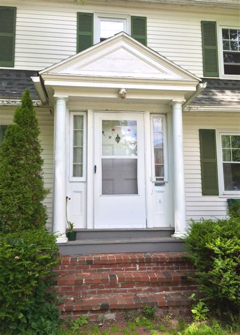 colonial style front doors updating a 1930s colonial gambrel in maine before and after