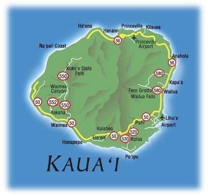printable map kauai map of kauai hawaii free printable maps map of kauai