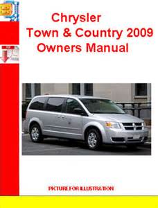 chrysler town amp country 2009 owners manual download