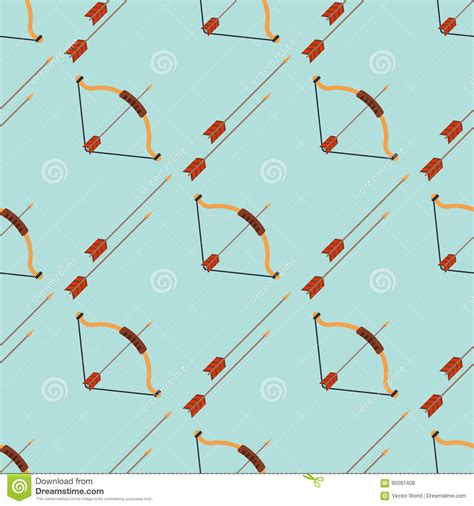 seamless multicolor arrow pattern stock vector image bow and arrow footprints background hunting weapons