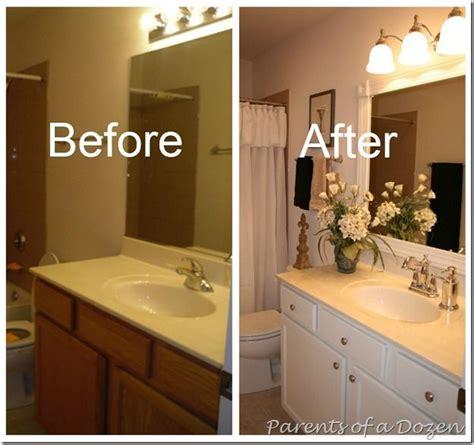 Redo Bathroom Cabinets - 1000 ideas about bathroom mirror redo on