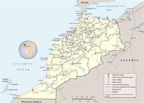 africa map morocco map of morocco travel africa