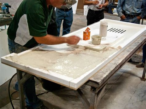 simulated concrete countertop veining method step 3
