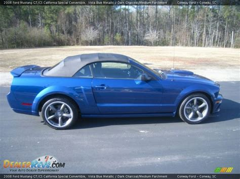 mustang vista blue vista blue metallic 2008 ford mustang gt cs california
