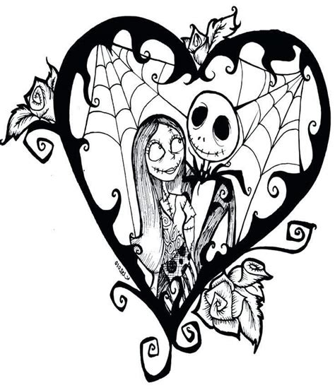 skellington coloring pages nightmare before skellington coloring pages