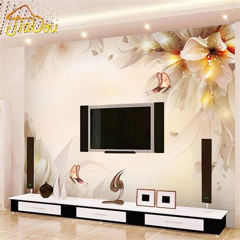 Living Room Wallpaper Or Paint Get Cheap Modern Tv Rooms Aliexpress Alibaba