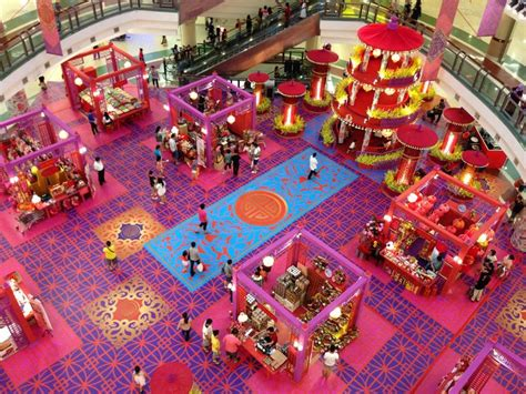 shopping mall lunar  year decoration  tim voi