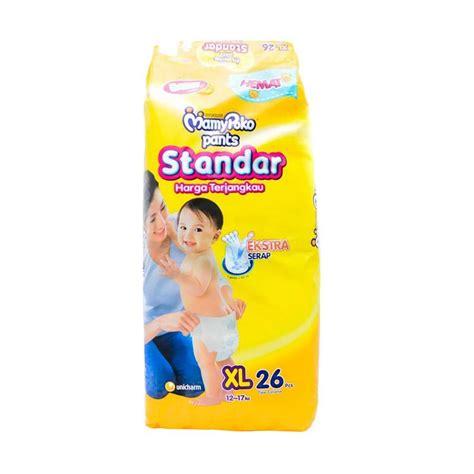 Mamypoko Standar S58 jual mamy poko standar popok bayi xl 26 pcs harga kualitas terjamin blibli