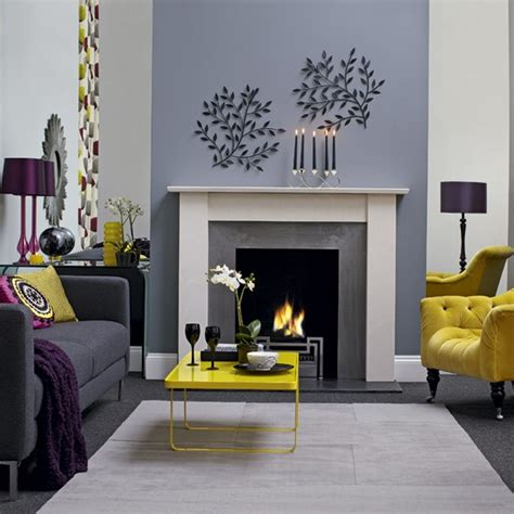 Modern Grey And Yellow Living Room Designs Yellow And Grey Living Room Ideas