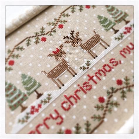 Merry My Deer merry my deer cross stitch chart country cottage