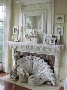 shabby chic fireplace furnishings pinterest