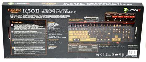 I Rocks Kr6421 Scissor Keyboard i rocks golem series k50e scissor switch gaming keyboard