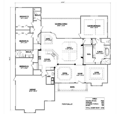 monticello floor plan monticello a 4 bedroom 3 bath home in bellechase the