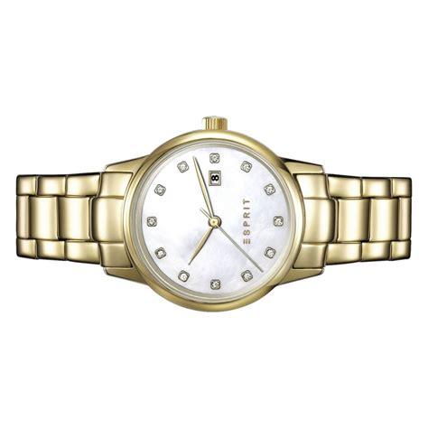 Esprit Gold Es100s62010 esprit damen uhr armbanduhr edelstahl gold es100s62010