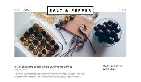 blog website templates wix