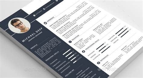 Best Resume Font And Style by Modele Cv Photoshop Psd Cv Anonyme