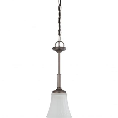 Satco Light Fixtures Satco Nuvo Lighting 60 4017 1 Light Mini Pendant Light Fixture In Aged Pewter Finish At Sutherlands