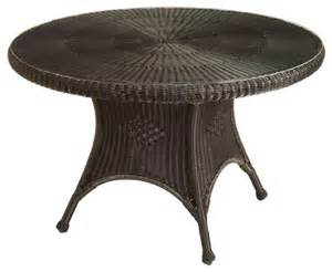 Outdoor Wicker Dining Tables Classic Wicker Dining Table Traditional Outdoor Dining Tables Birmingham By Summer