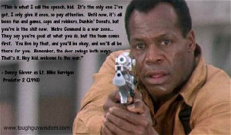film quotes predator danny glover gives quot the speech quot in predator 2 tough guy