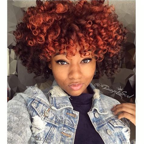 wet set for black hair blood orange color natural hair flexi rod set on wet hair
