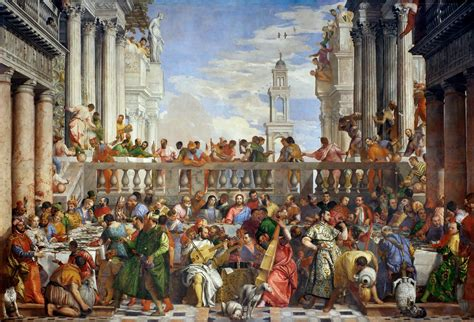 Wedding At Cana Painting In The Louvre by A Jester At The Last Supper How Veronese Became His Era S