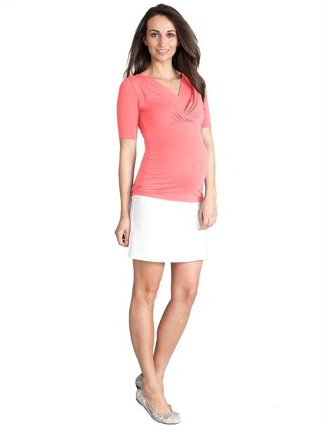 white denim maternity mini skirt my maternity wardrobe