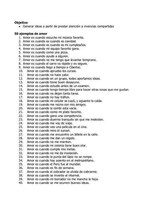 50 ejemplos de amor y 50 de odio