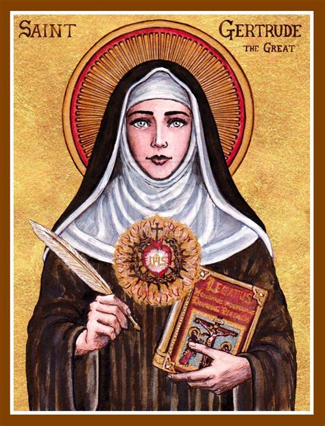 catholic st st gertrude the great icon by theophilia deviantart