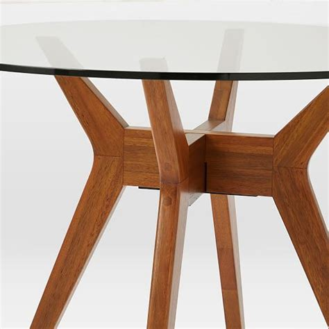 west elm round jensen round glass dining west elm