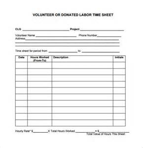 volunteer timesheet 9 free samples examples format