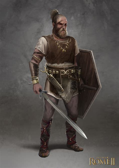 total war rome ii germanic champion by telthona on