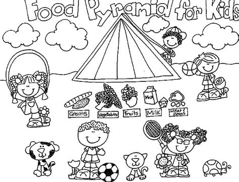 food pyramid coloring pages for kindergarten food pyramid for kids coloring page free coloring pages