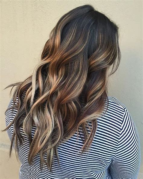 dark brown hair with light brown highlights picture of dark brown hair with honey and light brown