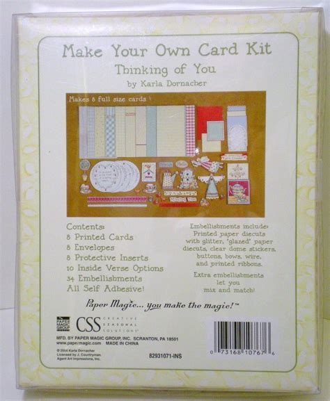 Make Your Own Card Kit Thinking Of You Karla Dornacher