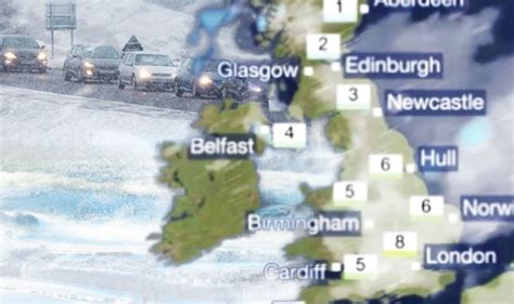 latest uk and world news sport and comment daily express bbc weather forecast snow and rain set to cause havoc in