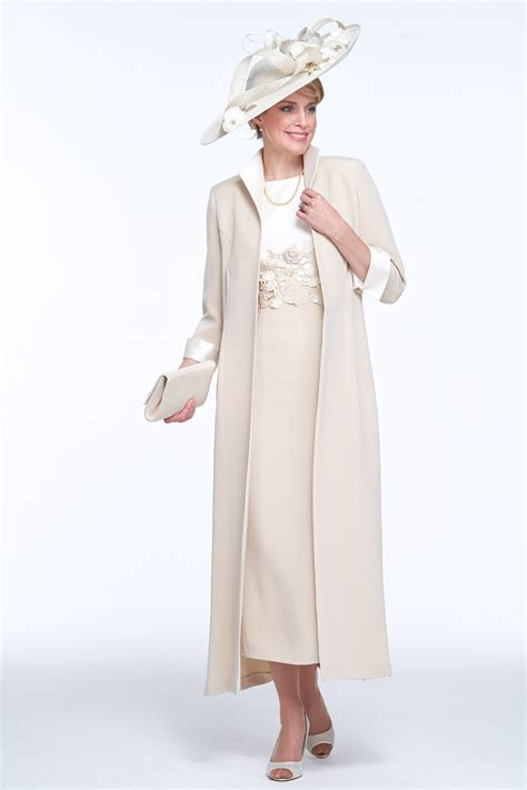 elegant coat  dress  guipure detail joyce young