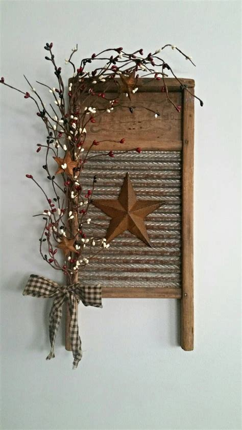 rustic antique home decor small rustic primitive vintage washboard decor by