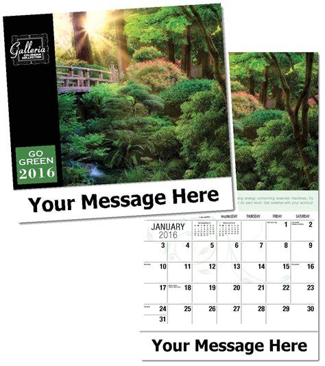custom go green ecological calendars personalized in bulk