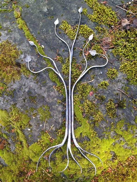 tree metal metal tree sculpture forged