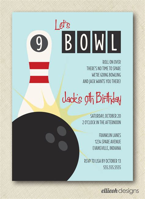 free bowling invitation templates 7 best images of bowling invitations printable